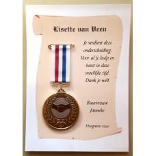 Bedank-Medaille